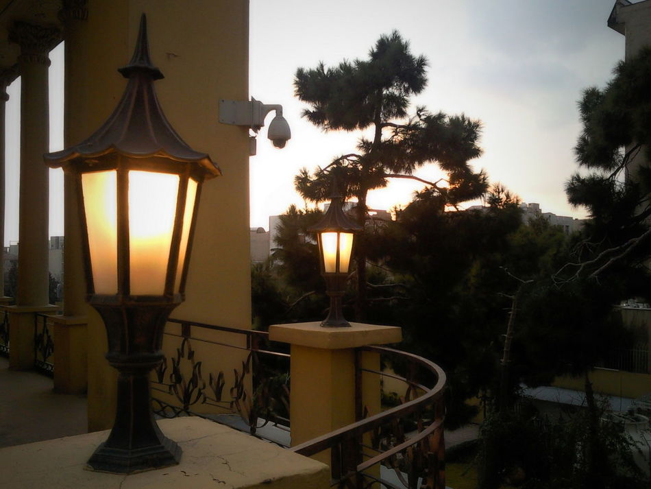 Architecture Architecture_collection Lighting Lighting Decoration Lighting Equipment No People Outdoors Sunset Tree روشنایی معماری نور