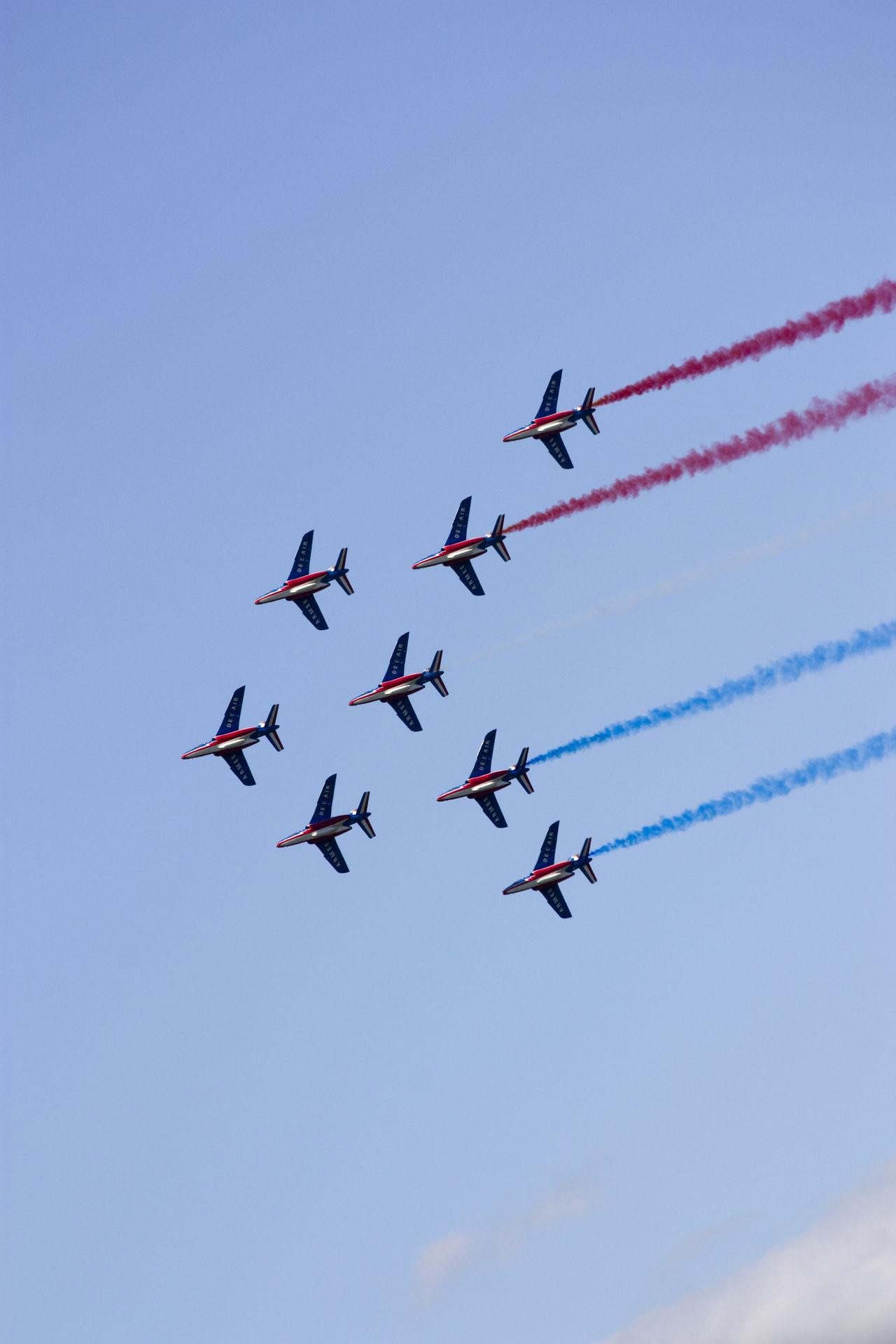 Aerial Shot Aerobatics Colors Flying France French Flag Plane Sky