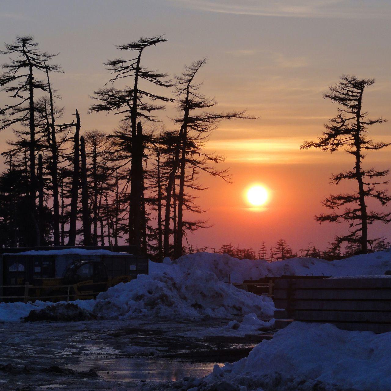 На севере о.Сахалин (Sakhalin island) Fareast Snow ❄ Winter Nature Sunset Silhouettes Sunset Sunset_collection Forest