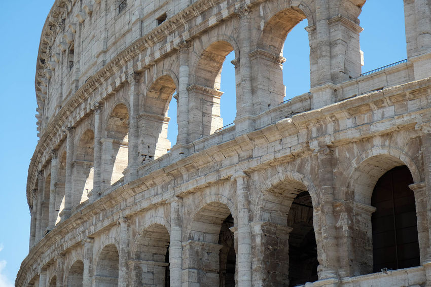 Ancient Ancient Civilization Arch Archaeology Architecture Built Structure Coluseum Day History Low Angle View No People Old Ruin Outdoors Sky The Past Tourism Travel Travel Destinations
