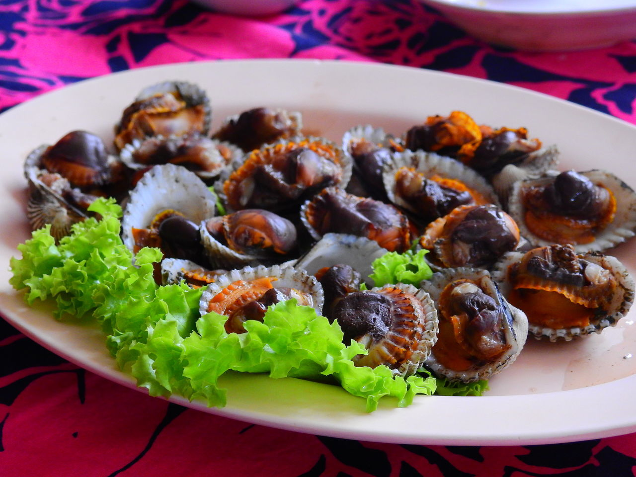 Grilled cockles. Bangkok. Thailand. Cockles Scallop Ready-to-eat Healthy Eating Close-up Freshness Indoors  Food No People Day Focus On Foreground EyeEm Best Edits OpenEdit Travelling Thailand EyeEmBestPics EyeEm Best Shots Taking Photos Hello World! Enjoying Life Sea Food Photography Sea Food Restaurant Sea Food Eyeem Photography Plate Food And Drink