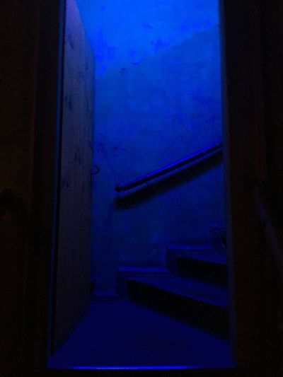 Night Indoors  Blue No People Architecture Illuminated Built Structure Sky