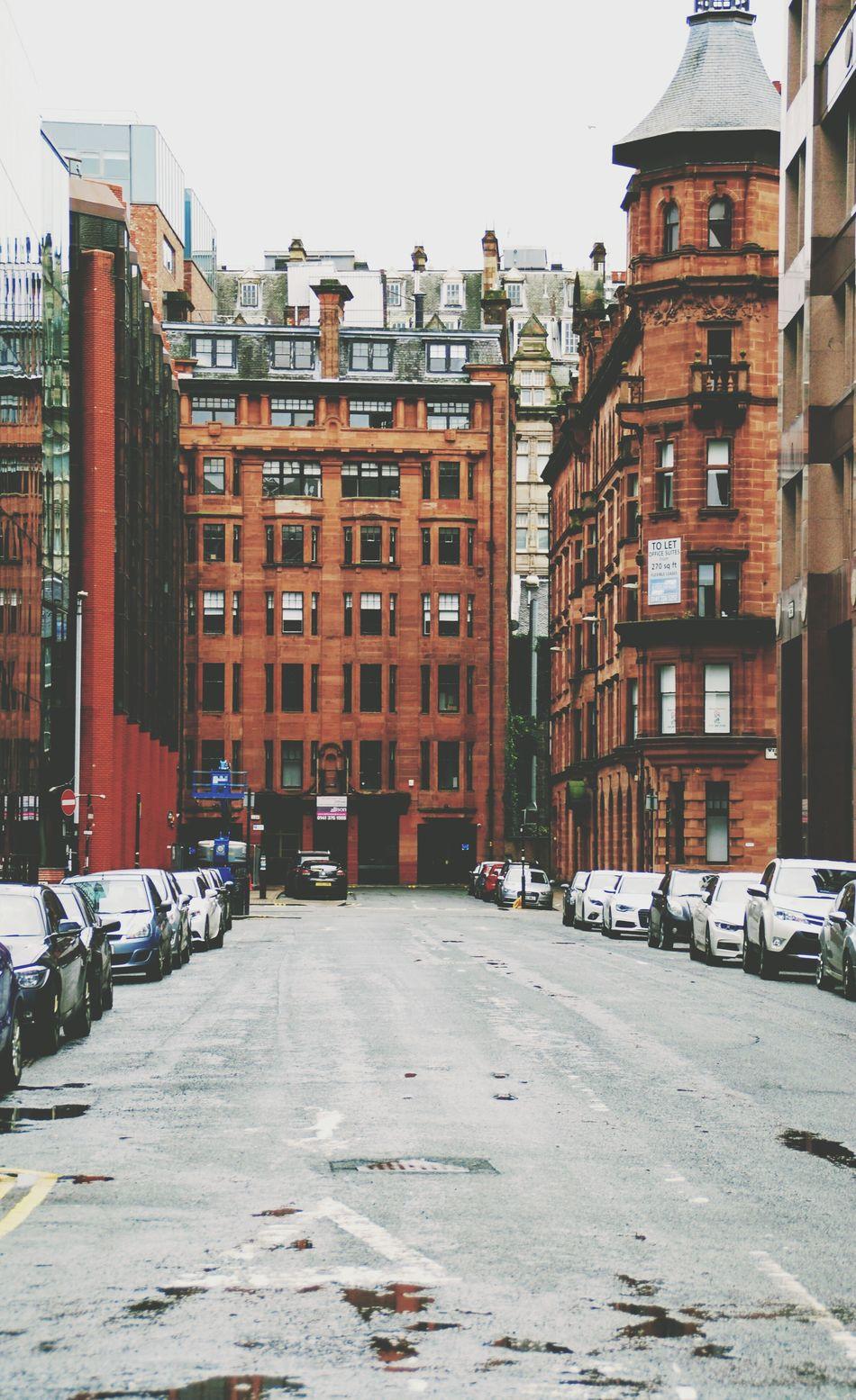 Glasgow  GLASGOW CITY Glasgow Streets Rainystreets Red Houses Scotland Streetphotography Streetview Oldhouses Eyemphotography Eyemstreetphoto Eyem Best Shots