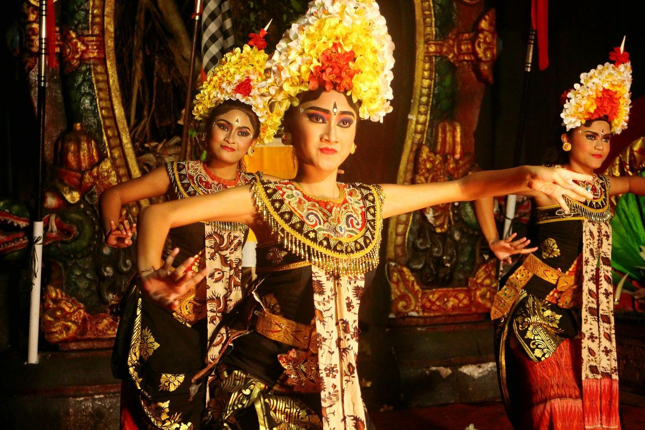 Barong and Keris Dance Beauty Arts Culture And Entertainment Women Glamour Traditional Clothing People Performance Stage Make-up Ubud Barong Dance Keris Dance