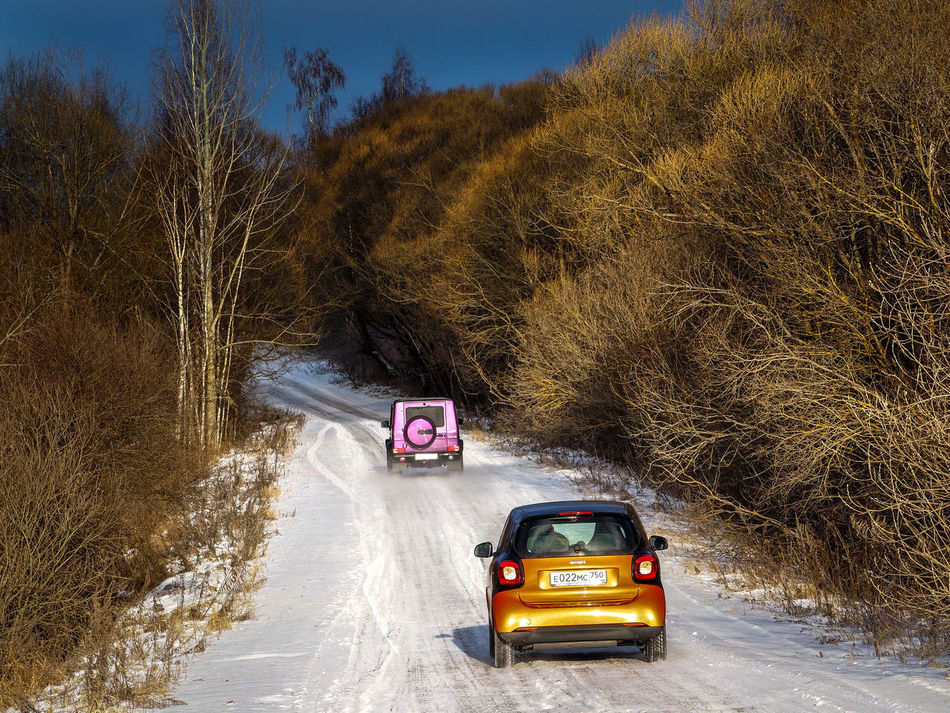 Russia, Moscow region, cars, Mercedes, crazy, smart, Gelendvagen Agriculture Cold Cold Temperature Crop  Day Dry Farm Field Gelendvagen Grass Grassy Harvesting Hay Land Vehicle Landscape Meadow Mercedes Moscow Region Outdoors Rural Scene Russia Smart The Way Forward Weather Winter