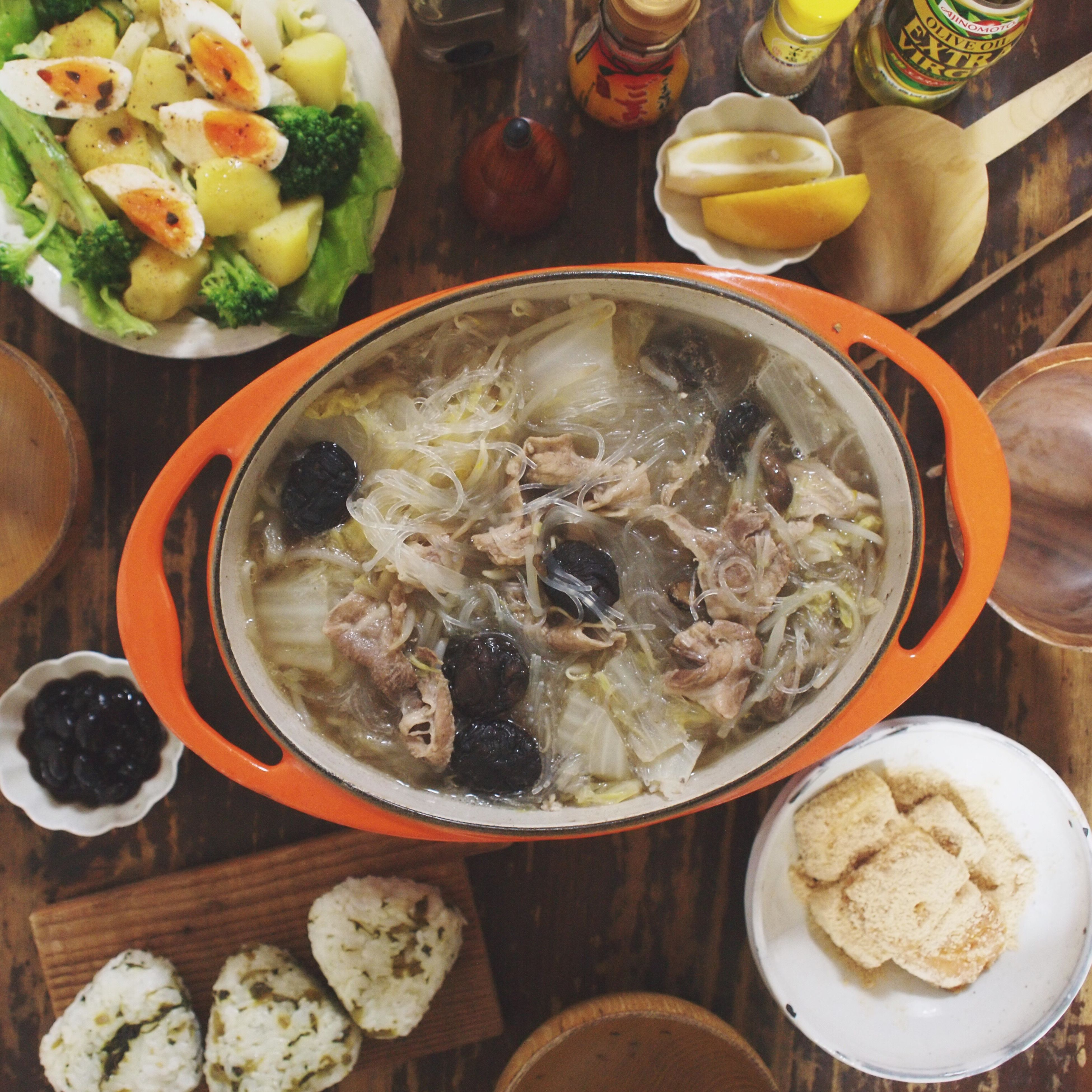 food and drink, food, freshness, indoors, bowl, ready-to-eat, healthy eating, meal, table, plate, still life, soup, high angle view, serving size, spoon, directly above, noodles, close-up, meat, chopsticks