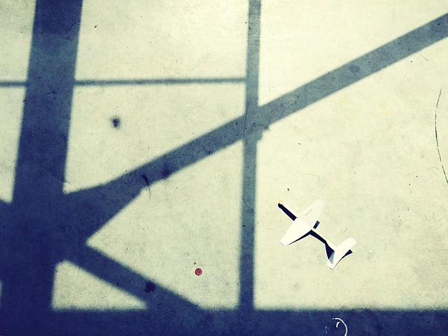 Shadow Light And Shadow Paperplanes Airplane Japan Hokkaido