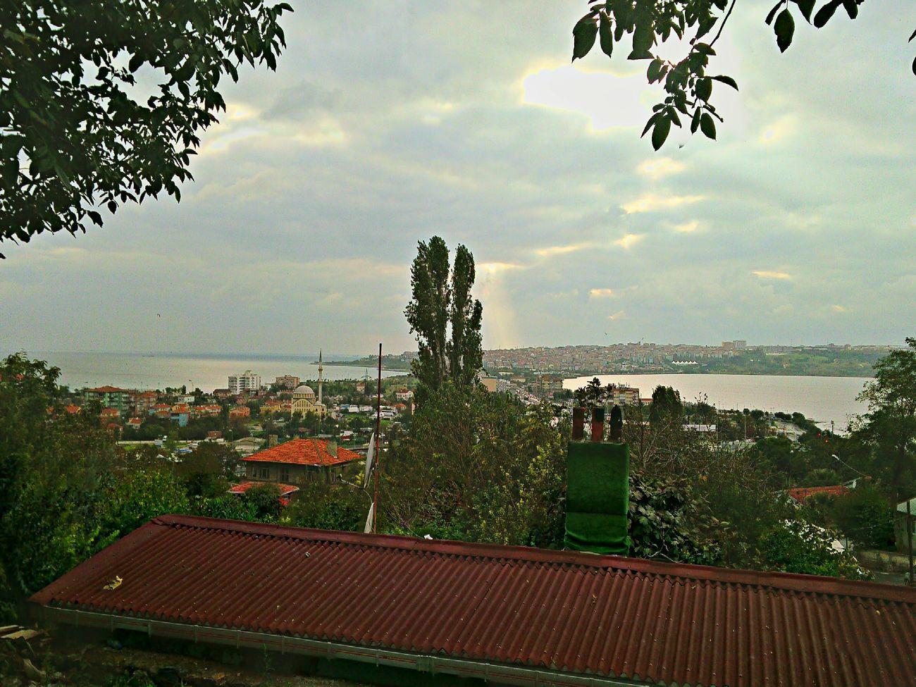 Küçükçekmece Küçükçekmece Gölü Marmarasea Göl Deniz Günbatımı Landscape View Shot Sun Istanbul City Turkey