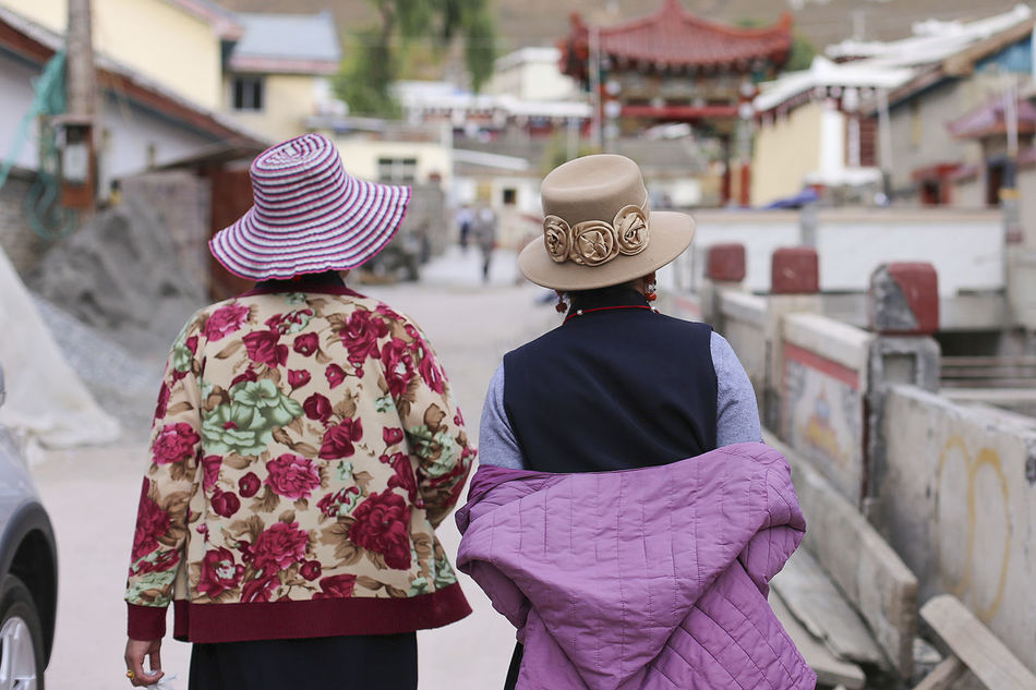 Back China Culture Hat Human Back Outdoors Outfit Sichuan Tibetan  Traditional Clothing Travel Women Around The World