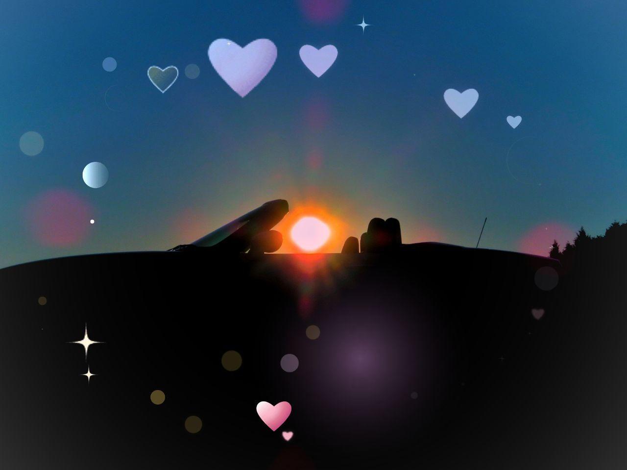 夕焼け空 空 青空 日暮 車 マツダ ロードスター Sunset Sun Sunlight Sky Blue Sky Car Mazda MX-5 Miata EyeEm Nature Lover EyeEm Best Shots Beauty In Nature Nature Nature Lover 写真好き いま空 写真好きな人と繋がりたい Moon