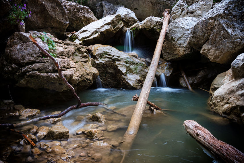 Stream - Flowing Water Stream Water Rocks Rocks And Water Flow  Landscacpe Travel Outdoor Nature