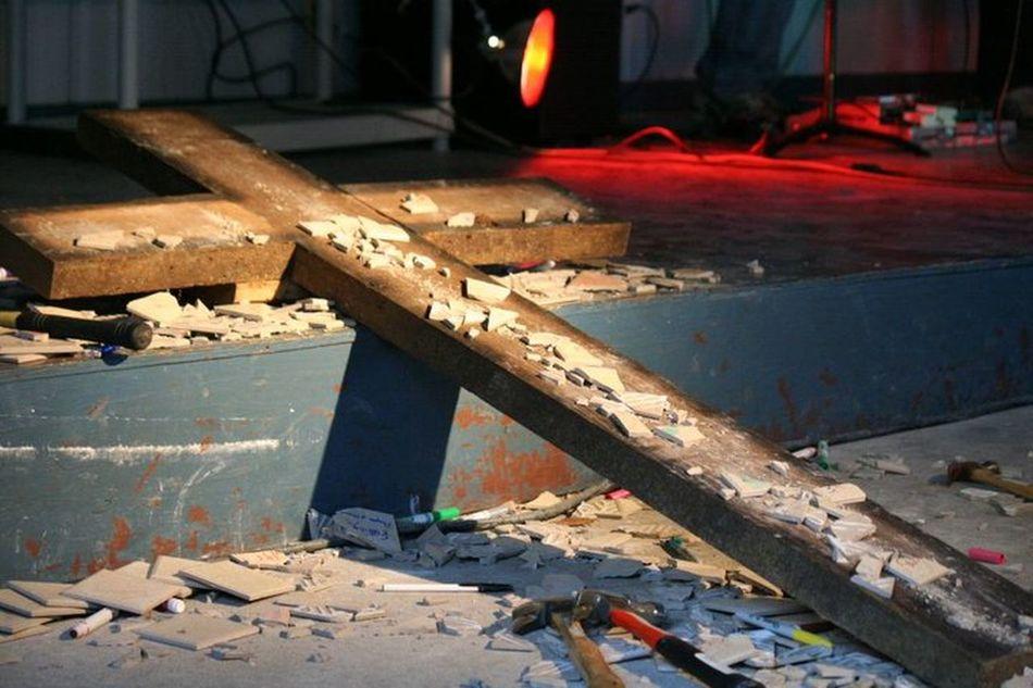 Broken Broken Beauty Christ Cross Pottery Pottery Pieces Shadow Surrender...
