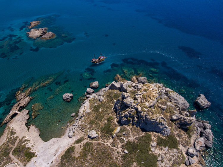 Aerial View Aerial View Of Manchester Beach Beauty In Nature Coral Day Dronephotography Greece High Angle View Kef Landscape Nature No People Outdoors Rock - Object Scenics Sea Sea Life Ship Tranquility UnderSea Underwater Water