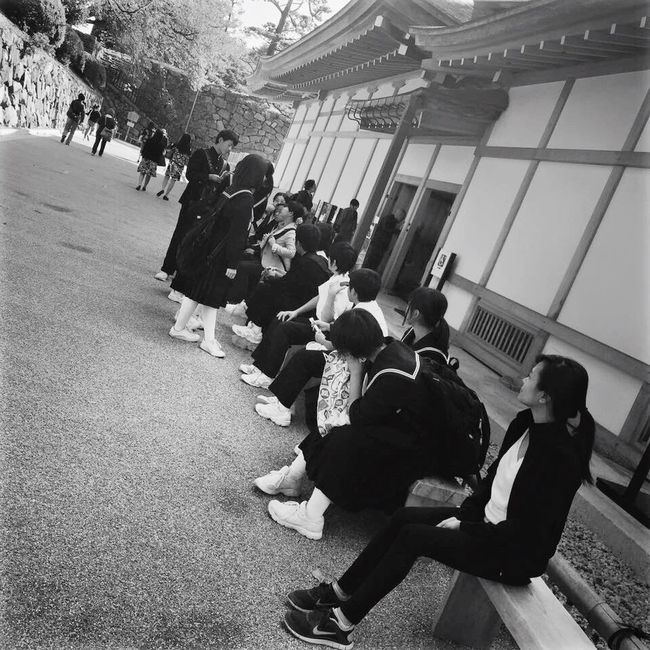 Blackandwhite Photography That's Me Staring At The Japanese Students JapanLife 2015