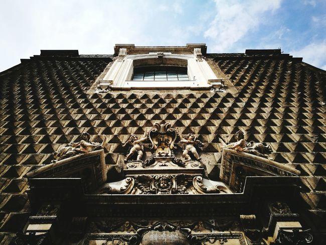 Napoli ❤ Architecture Sky Built Structure Cloud Architectural Feature No People Historic Selective Focus Blue Sky Napels Catolicism