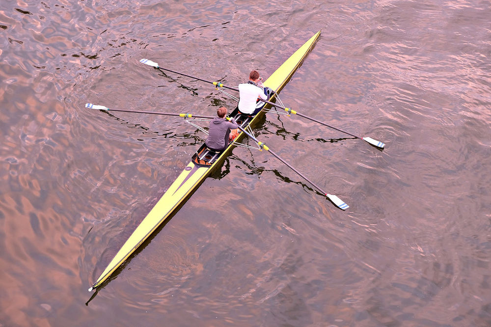 Active Lifestyle  Break Day Exhausted Frankfurt Leisure Activity Nature Oar Outdoors Purple Water River Rowing Boat Rowing On The River Main Rudder Scull Sculling Sky Reflected In Water Sport Two Adults Water Yellow Rowing Boat Millennial Pink TCPM