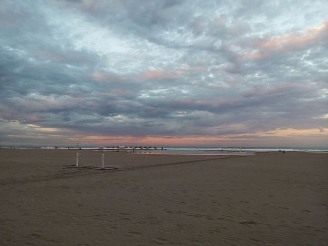 Beach Beauty In Nature Cloud - Sky Day Dramatic Sky Horizon Over Water Nature No People Outdoors Postcard Sand Scenics Sea Sky Sunset Tranquility Valencia, Spain Vertical Water Weimei