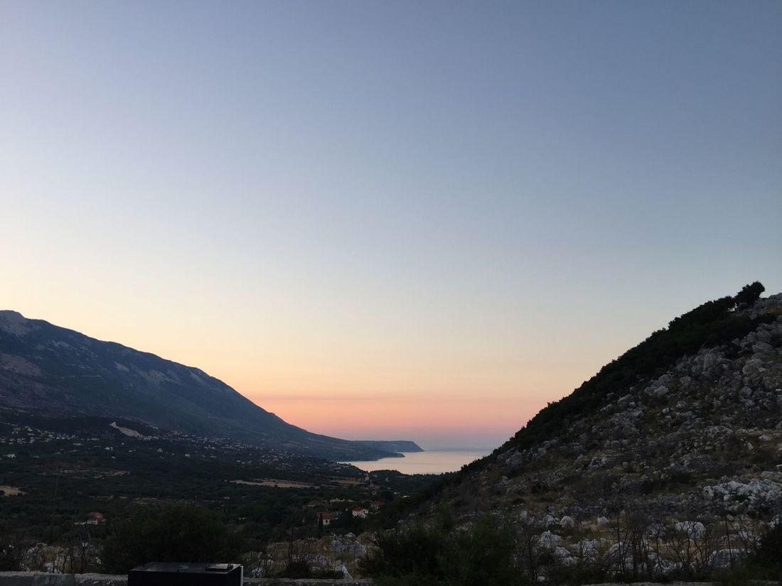 Sunrise somewhere. Greece Photos Kefalonia Island Sunlight Sunrise Clear Sky Beauty In Nature Scenics Tranquility The Week On EyeEm
