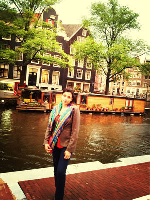 Checking in at Anne Frank House by Amina