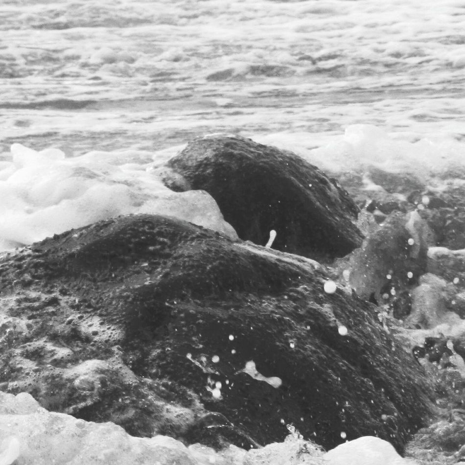 Nature Beauty In Nature Outdoors Beach Water Rocks And Water Blackandwhite Photography