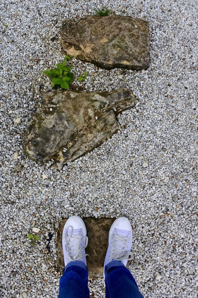 Adventure Club Close-up Day Elevated View Fine Art Photography Footwear Gravel Ground Lifestyles Low Section Nature On The Way Outdoors Part Of Person Personal Perspective Rocks Standing Step Stepping Stones Stone Taking Steps Travelling Unrecognizable Person Walking