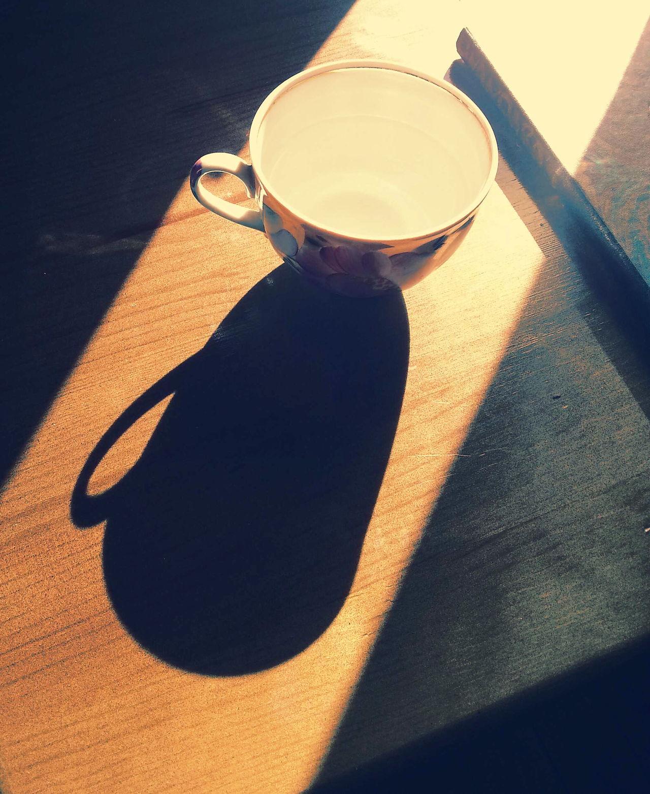 Warm light, blue shadows. .. China Cups Cup Shadows Still Life