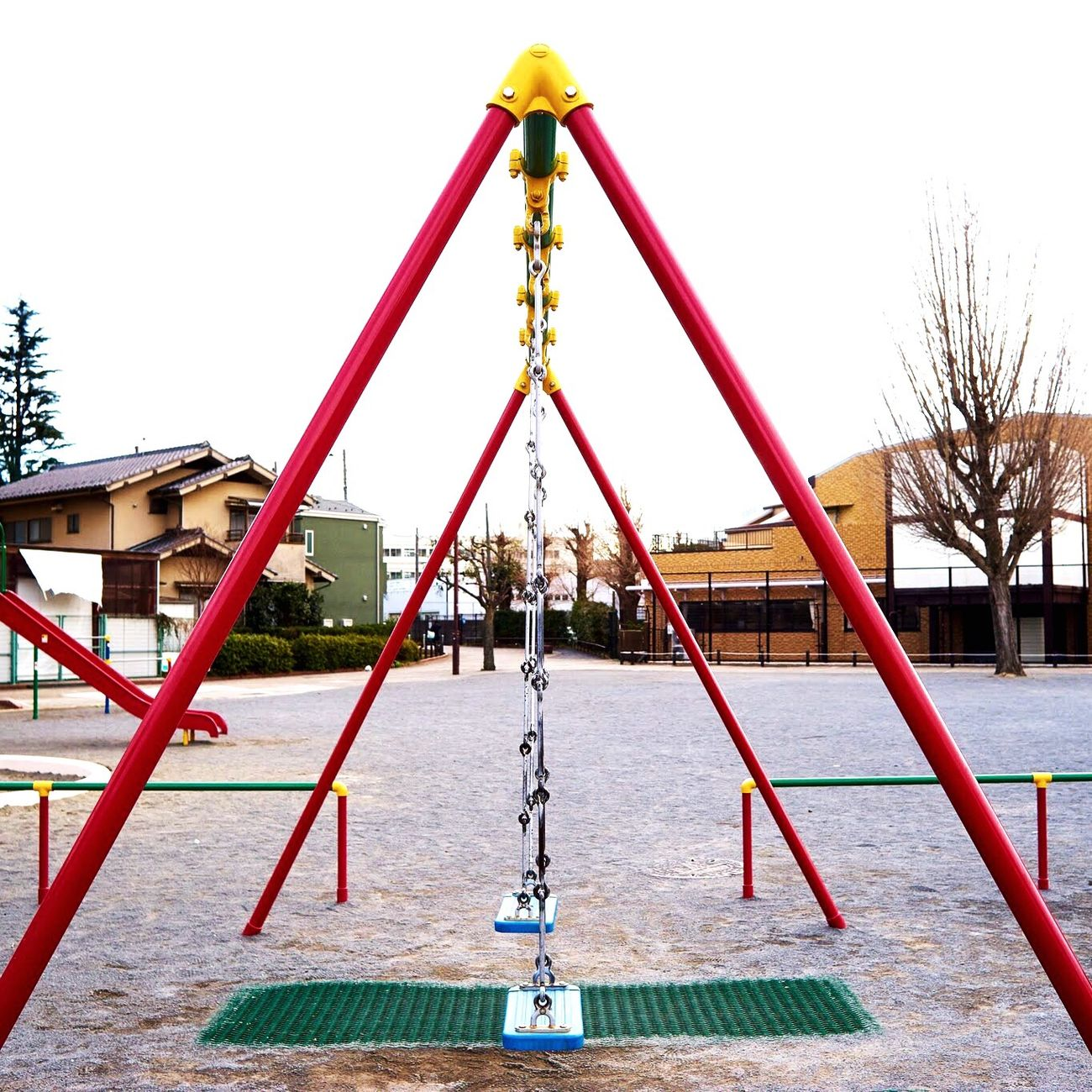 Playground Outdoors Childhood Day Swing Sky People Branco Color Playing