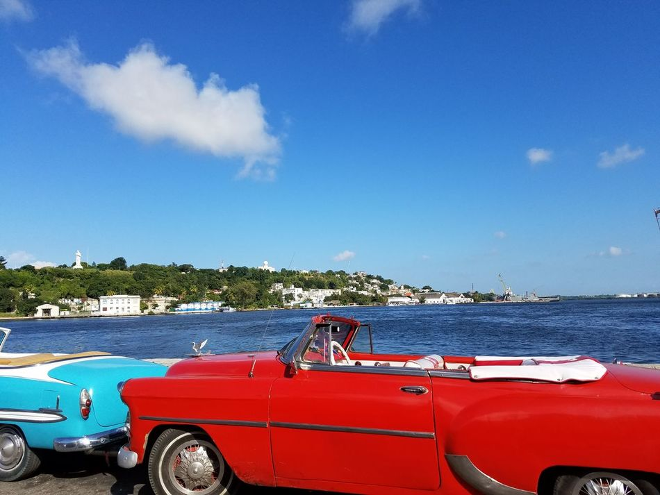 Car Transportation Red Mode Of Transport Blue Sky Streets Of Cuba Classiccar Traveling Photography Cuban Style Agriculture Classic Vintage❤ Fotogeniksyl Living In The Moment Lifestyles Beauty In Nature The City Light