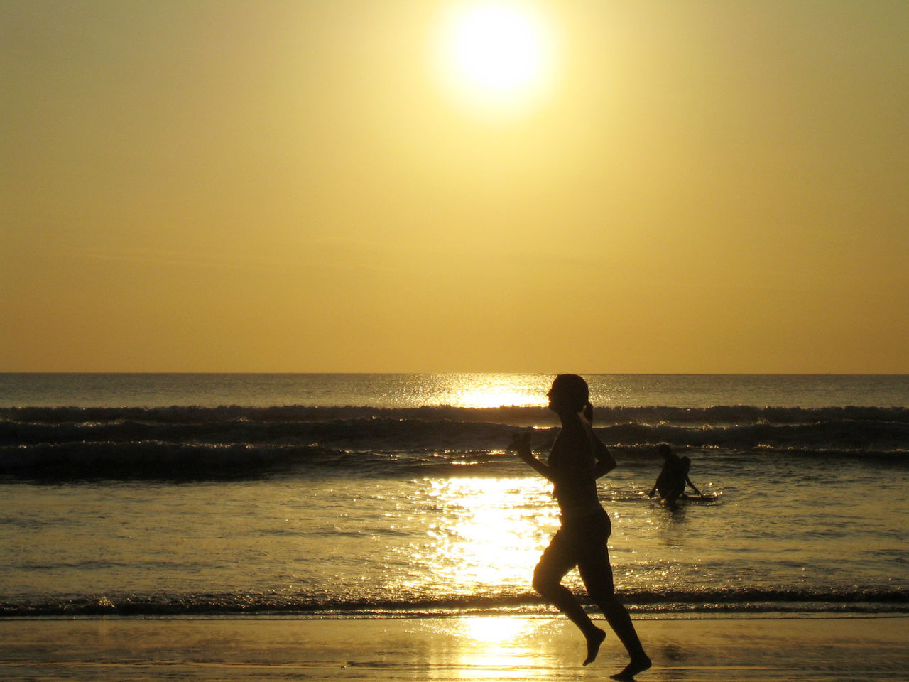 Beautiful stock photos of running, Beach, Environment, Horizon, Jogging