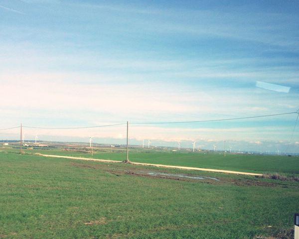 Andare a scuola é più bello con questo panorama Taking Photos Hello World Ho To School Paesaggio Natura Nature Cielo Blue Sky Beautiful Bello