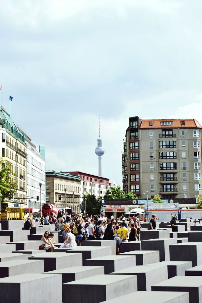 Battle Of The Cities Berlin People And Places Jews Memorial Denkmal City Life Travel Travelphotography Thattoweragain Fernsehturm Fernsehturm Berlin  Tvtower Tvtowerberlin People Photography Sightseeing Sehenswürdigkeiten Favouritecity Architecture Lines