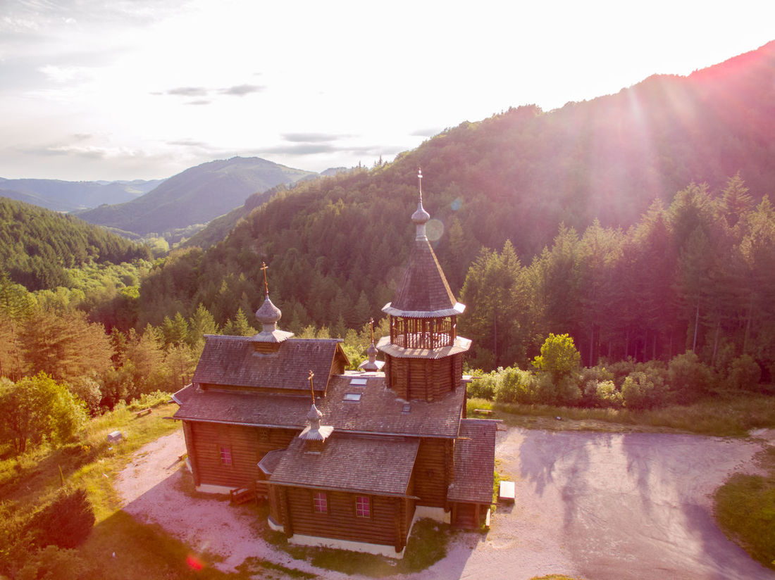 Aerial Photography Aerial Shot Aerial View Beautiful Beauty In Nature Beauty In Nature Bird View Church Day Drone  Dronephotography Landscape Mountain Mountain Range Nature No People Orthodox Orthodox Church Outdoors Scenics Sky Tranquil Scene Tranquility Tree Wooden