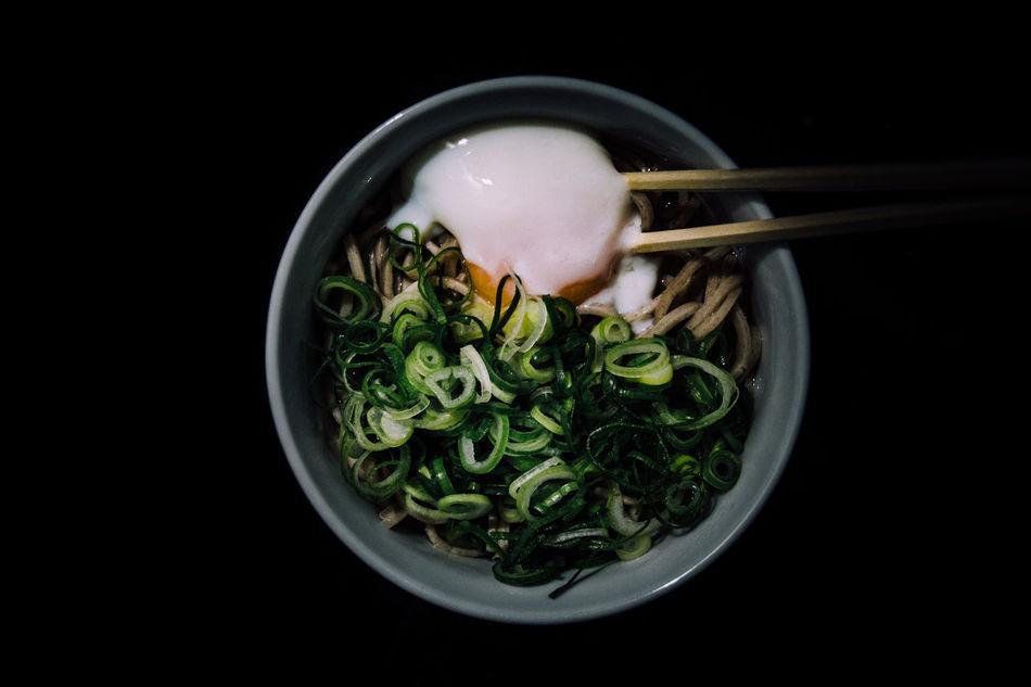 Beautiful stock photos of japan, Black Background, Bowl, Chopsticks, Close-Up