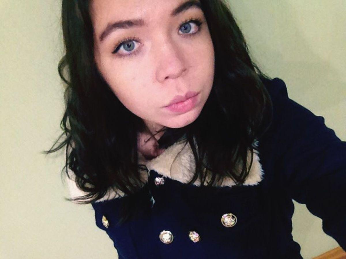 Blue Eyes Black💀 Me :)  Hello World Girl