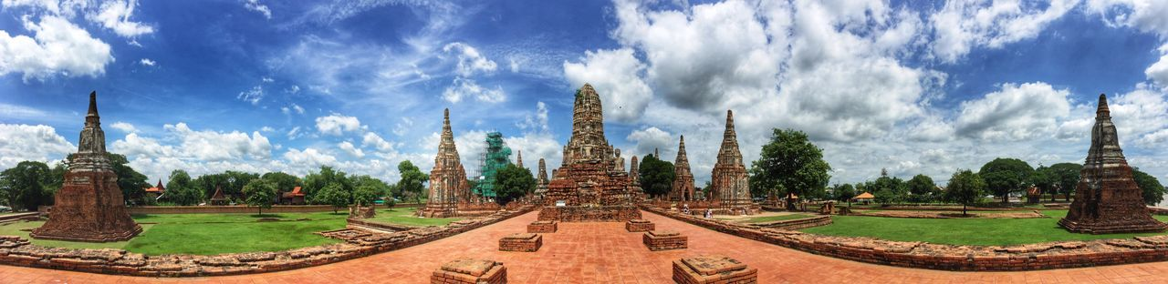 Ayutthaya Thailand Travel Lonelyplanet Hello World Panorama Sky Panoramic Built Structure Outdoors Cultures IPhoneography Colour Of Life