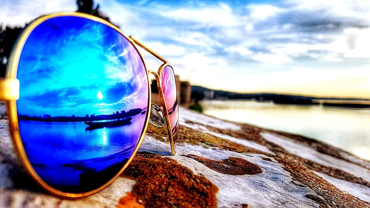 Reflection Tranquility Nature Beauty In Nature Day Sunglasses Beautiful Day Dunav