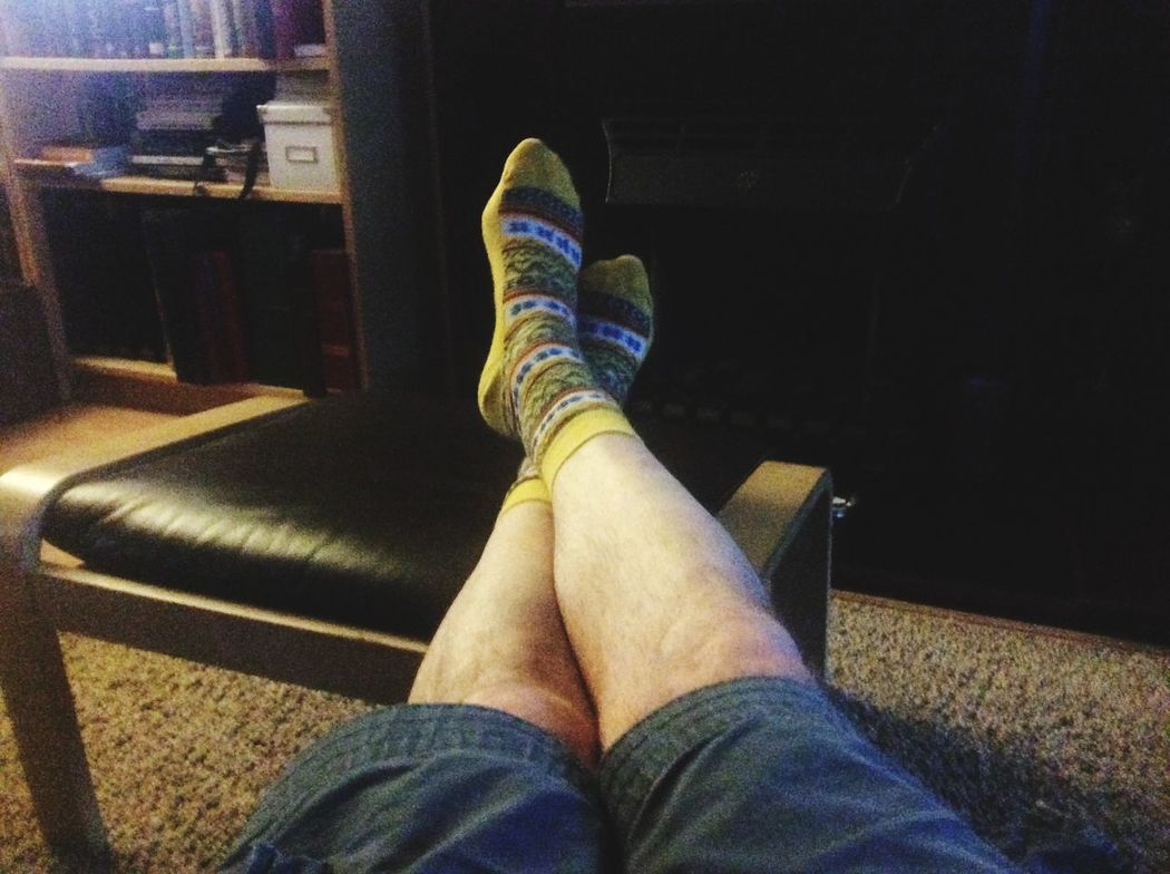 Self Portrait Selfie Socks Summer So Shorts legs Chilling With My Feet Up