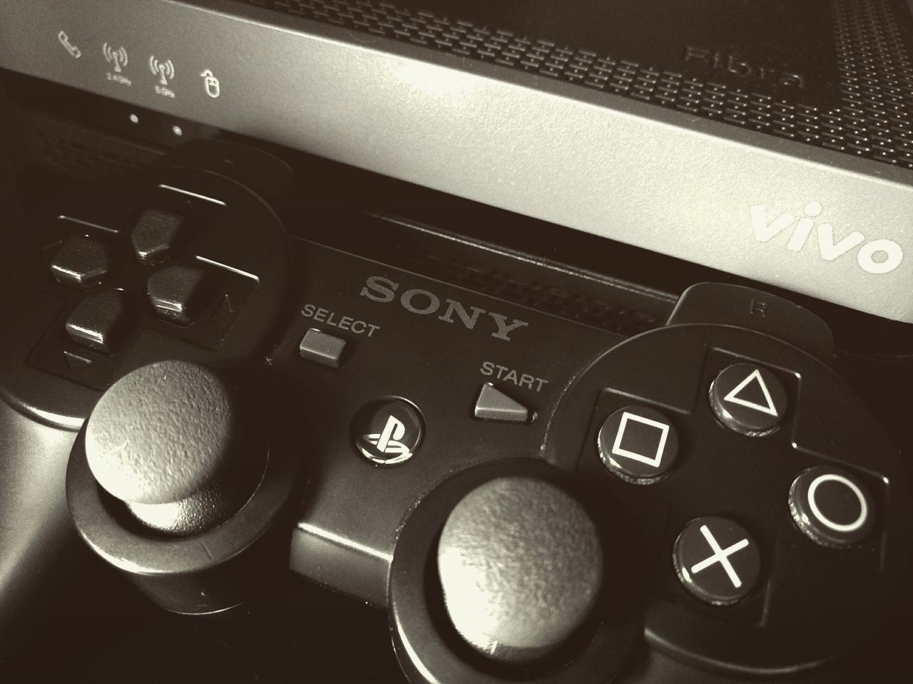 Technology Indoors  No People Nopeople Smartphonephotography EyeEm Best Shots MotoZPlay Monochrome Photography Nophotoshop Modern Ps3controller Modem Entertainment Games OnlineGames Communication Sony Playstation3 Sony