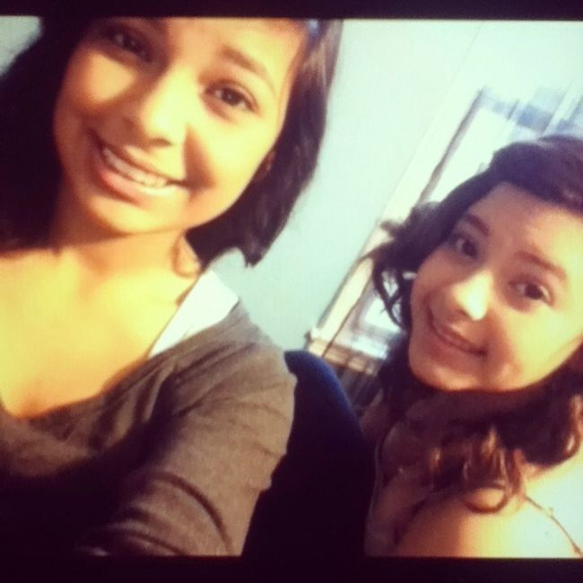 #tbt #lauryn #party #curledhair #chillen'