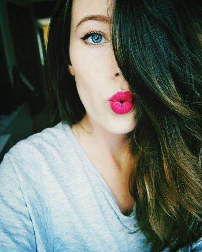 Girl Polishgirl Likeback Vsco Love  YOLO ✌ Kiss ✌ Pink Lips