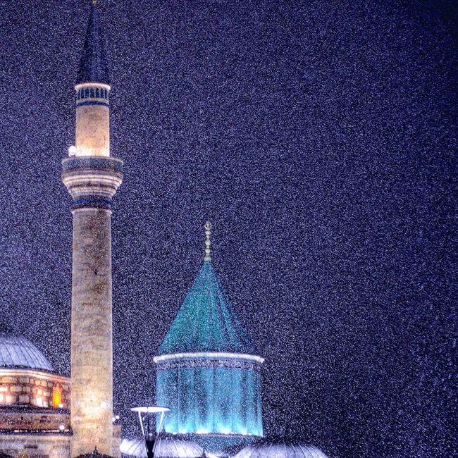 Konya Turkey Konya Anadolu Mavi Muslim Mosque Mevlana Mosque Mevlana