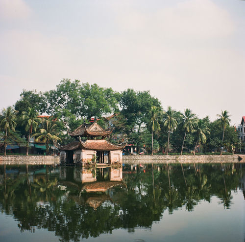 Architecture Building Exterior Built Structure Lake Nature No People Outdoors Reflection Reflection Lake Temple Tranquil Scene Tranquility Vietnam Vietnamese Village Water Film Peaceful Peace And Quiet EyeEmNewHere Film Photography 120 Film 120mm Film Is Not Dead