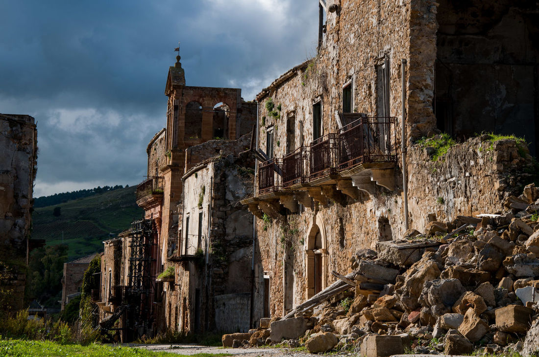 Destruction Earthquake Historic History Italy Light And Shadow Old Town Ruined Sicily Travel Photography Travelling