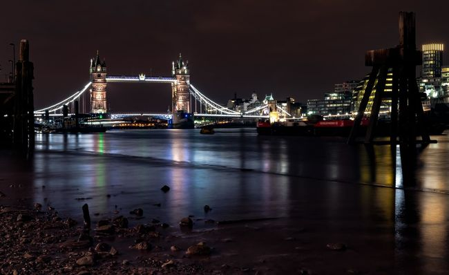 Late night adventures in London Architecture Bridge - Man Made Structure Built Structure Capital Cities  City City Life Connection Development Engineering Illuminated Nature Night No People Outdoors River Sky Tourism Travel Destinations Water Cities At Night