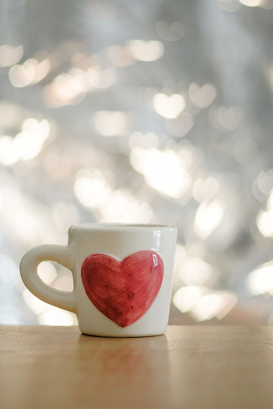 Close-up Coffee - Drink Coffee Cup Day Drink Food Food And Drink Freshness Healthy Eating Heart Shape Indoors  Love No People Red Refreshment Table Water