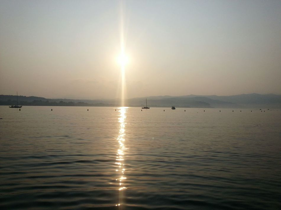 Lac Majeur Italie Sunset Reflection Tranquil Scene Beauty In Nature Water