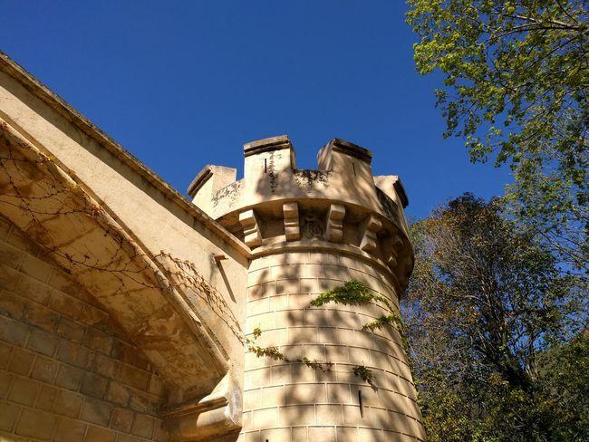 Castillo Torre Almenas Cielo Vigilancia