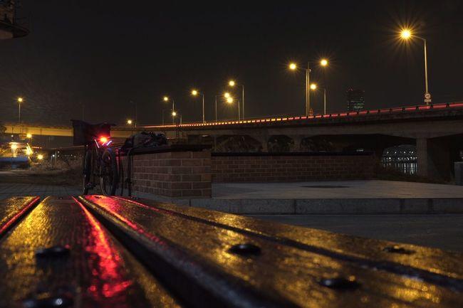 마포대교 북단. 답답함에 야간 라이딩. Snap Photo Snap X100t FujiX100T Life Daily Nightscape MTB Fujifilm Landscape