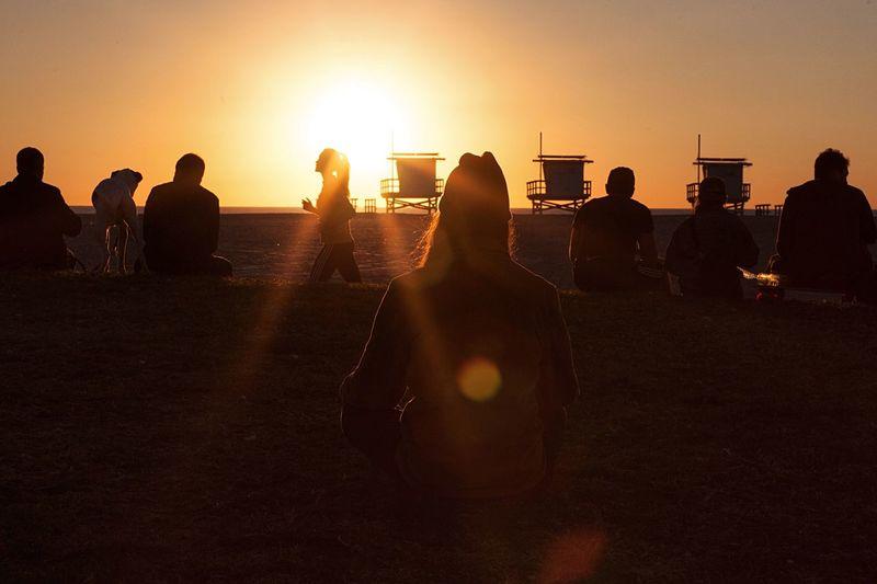 """Transcendence"" Hanging Out Enjoying Life Beautiful Finding Virtu Life Is Waiting Venice Beach Sunset Sunshine ☀ Warm Colors Spirituality Spiritual On The Beach Life Is A Beach Enjoying The Sun Sunset Silhouettes Silhouette Hanging Out Serenity Beautiful Sunset"
