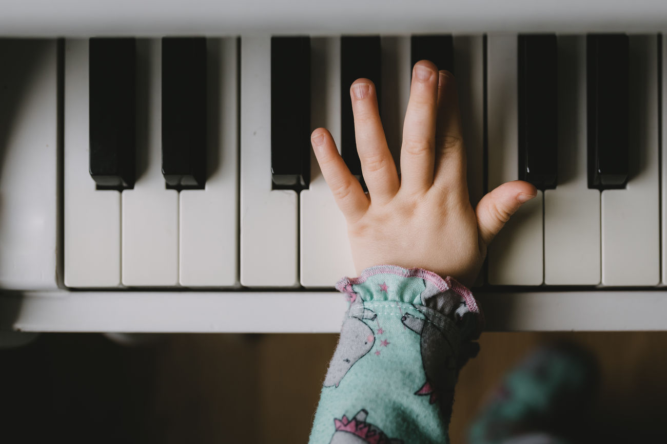 Baby Close-up Human Hand Kids Being Kids One Person Piano Play Real People